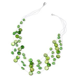 Jewelry - Green Shell, Freshwater Green Pearl Necklaces